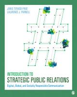 Introduction to Strategic Public Relations PDF