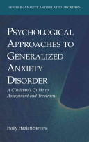 Psychological Approaches to Generalized Anxiety Disorder PDF