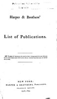 Harper   Brothers  List of Publications PDF