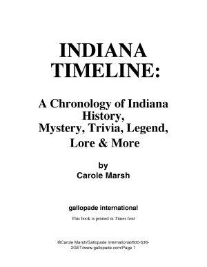 Indiana Timeline