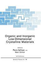 Organic and Inorganic Low Dimensional Crystalline Materials PDF