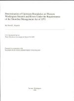 Determination of Upstream Boundaries on Western Washington Streams and Rivers Under the Requirements of the Shoreline Management Act of 1971