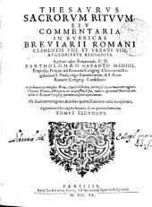 Thesaurus sacrorum rituum seu Commentaria in rubricas Breviarii Romani Clementis VIII et Urbani VIII auctoritate recogniti