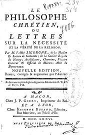 Le philosophe chrétien, ou Lettres sur la nécessité et la vérité de la religion