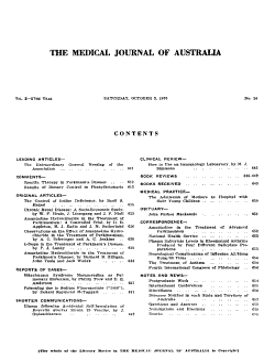 Medical Journal of Australia PDF