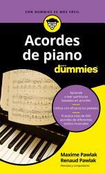 Acordes de piano para Dummies PDF