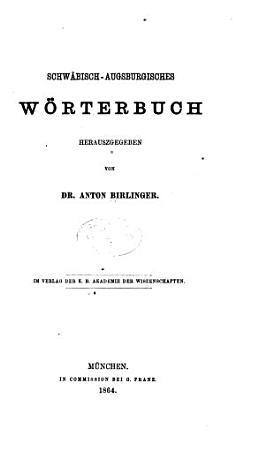 Schw  bisch augsburgisches w  rterbuch PDF