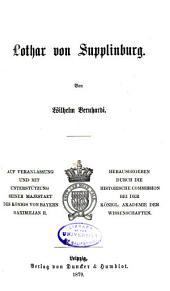 Jahrbucher der deutschen Geschichte: Band 30
