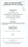 Energy and Water Development Appropriations for Fiscal Year 2005 PDF