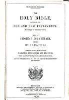 The compendious commentary  The holy Bible  with comm  by J R  M Gavin PDF