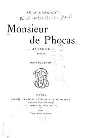 Monsieur de Phocas: Astarté, roman