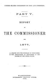 Report of the Commissioner - United States Commission of Fish and Fisheries: Part 5