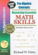 Mastering Essential Math Skills Pre algebra Concepts With Companion Dvd Book