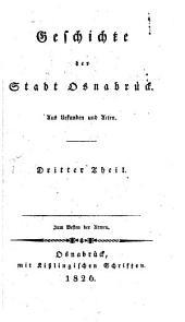 Geschichte der Stadt Osnabrück: aus Urkunden, Band 3