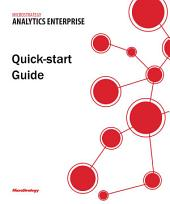 Quick Start Reference Guide for MicroStrategy Analytics Enterprise