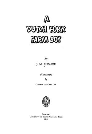 A Dutch Fork Farm Boy