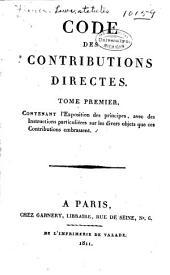 Code des contributions directes. ...
