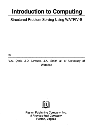 Introduction to Computing PDF