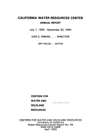 Report   Water Resources Center  University of California PDF