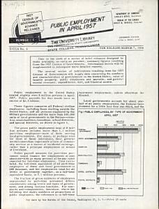 Public Employment in April 1957 Book