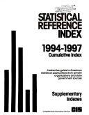 Statistical Reference Index     Cumulative Index PDF
