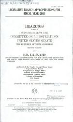 Legislative Branch Appropriations Book PDF