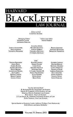Harvard Blackletter Law Journal PDF