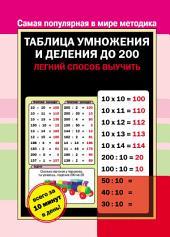 Таблица умножения и деления до 200