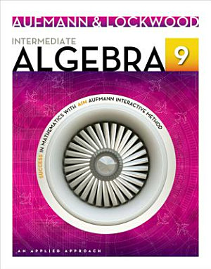 Intermediate Algebra  An Applied Approach