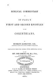 Biblical Commentary on the New Testament: Biblical commentary on St. Pauls' First and Second epistles to the Corinthians