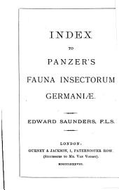 Index to Panzer's Fauna Insectorum Germaniae