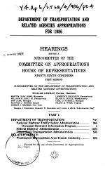 Department of Transportation and related agencies appropriations for 1986