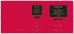 Folk on the Delaware General Corporation Law  7th Edition PDF