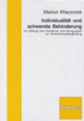 Individualit  t und schwerste Behinderung PDF