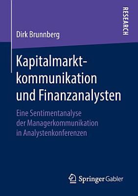 Kapitalmarktkommunikation und Finanzanalysten PDF