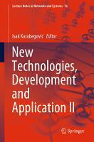 New Technologies  Development and Application II PDF