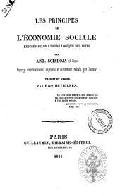 Les principes de l'economie sociale exposes selon l'ordre logique des idées