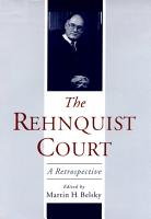 The Rehnquist Court PDF