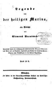 Legende von der heiligen Marina: ein Gedicht : veranlaßt durch eine Zeichnung des Historienmalers Eduard Steinle aus Wien ...