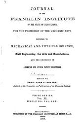 Journal of the Franklin Institute: Volume 70