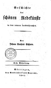 Geschichte der Litteratur von ihrem Anfang bis auf die neuesten Zeiten