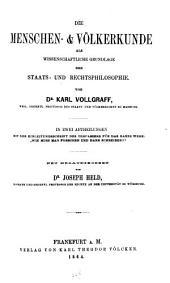 Staats und Rechtsphilosophie: Volume 1
