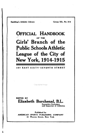Official Handbook of the Girls' Branch of the Public Schools Athletic League