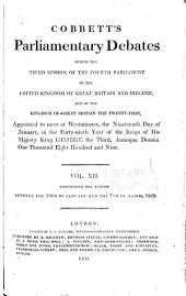 Parliamentary Debates (Hansard).: Official report, Volume 12