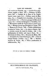 Histoire du Directoire exécutif: Volume7