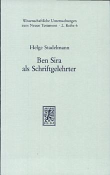 Ben Sira als Schriftgelehrter PDF