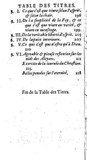 Sentimens et maximes du bien-heureux François de Sales, ... touchant la véritable piété et les moyens de parvenir à la perfection du chrétien, le tout fidèlement recueilli de ses oeuvres par Mre Louis Abelly,...