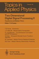 Two-Dimensional Digital Signal Processing II