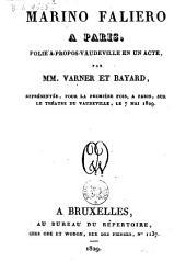 Marino Faliero à Paris: folie à-propos-vaudeville en un acte