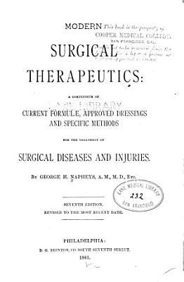 Modern Surgical Therapeutics